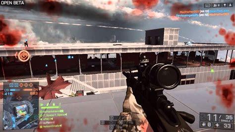 battlefield  ma sniper gameplay bf beta day  youtube