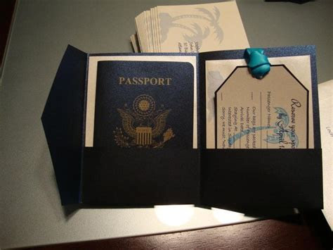 25  best ideas about Passport invitations on Pinterest