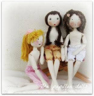 Bambole di stoffa....e abiti, Cloth Doll ...e Dress