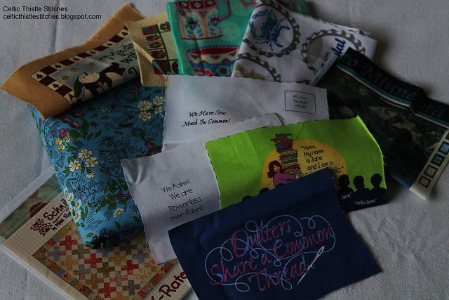 Vintage fabric package