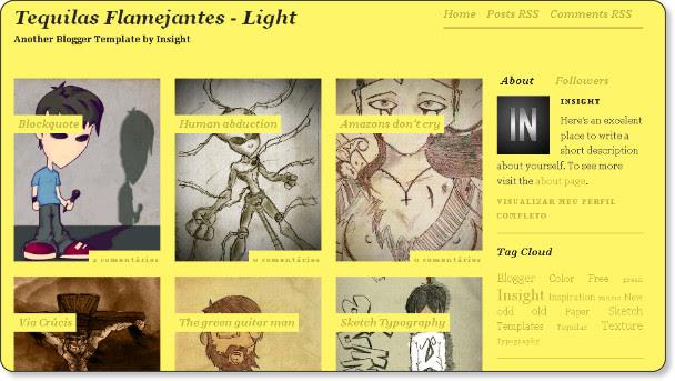 Yellow Phot Blog Template