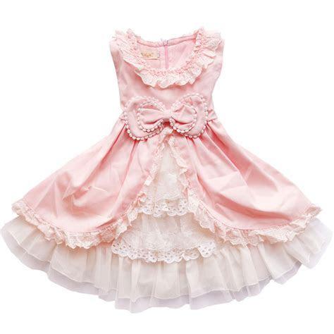 Baby Girls dress 2017 new children lace princess Bow