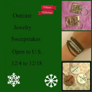 Enter the Outcast Jewelry Giveaway. Ends 12/18.