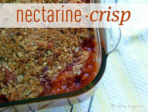 Nectarine Crisp