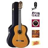 Yamaha CG192C Classical Guitar Bundle with Hardshell Case, Tuner, Instructional DVD, Strings, Pick Card, and Polishing...