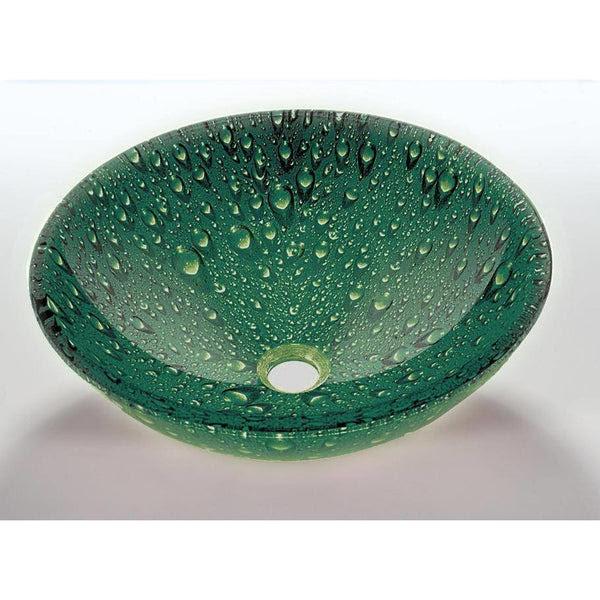 Legion Furniture Tempered Glass Vessel Sink Bowl Green Za 10