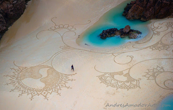 sand painting by Andre Amador
