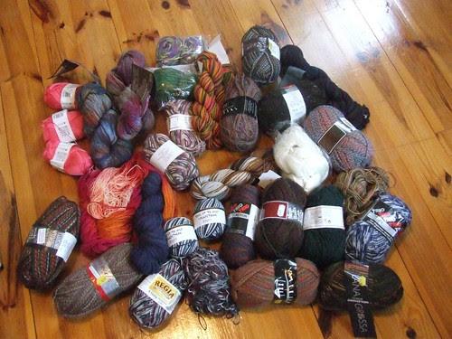 Lots of Sock Yarn!