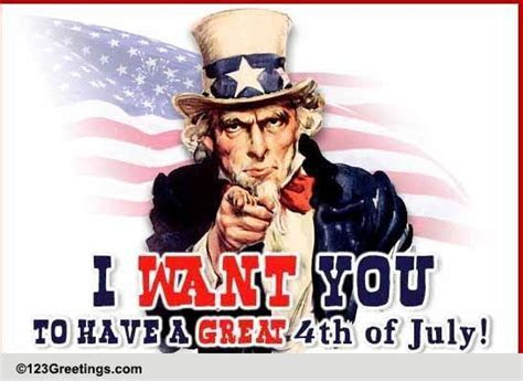 Uncle Sam 4th Of July Wishes! Free Happy Fourth of July