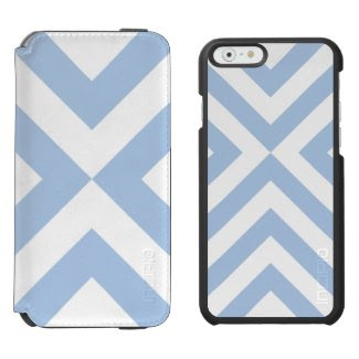 Light Blue and White Chevrons Incipio Watson™ iPhone 6 Wallet Case
