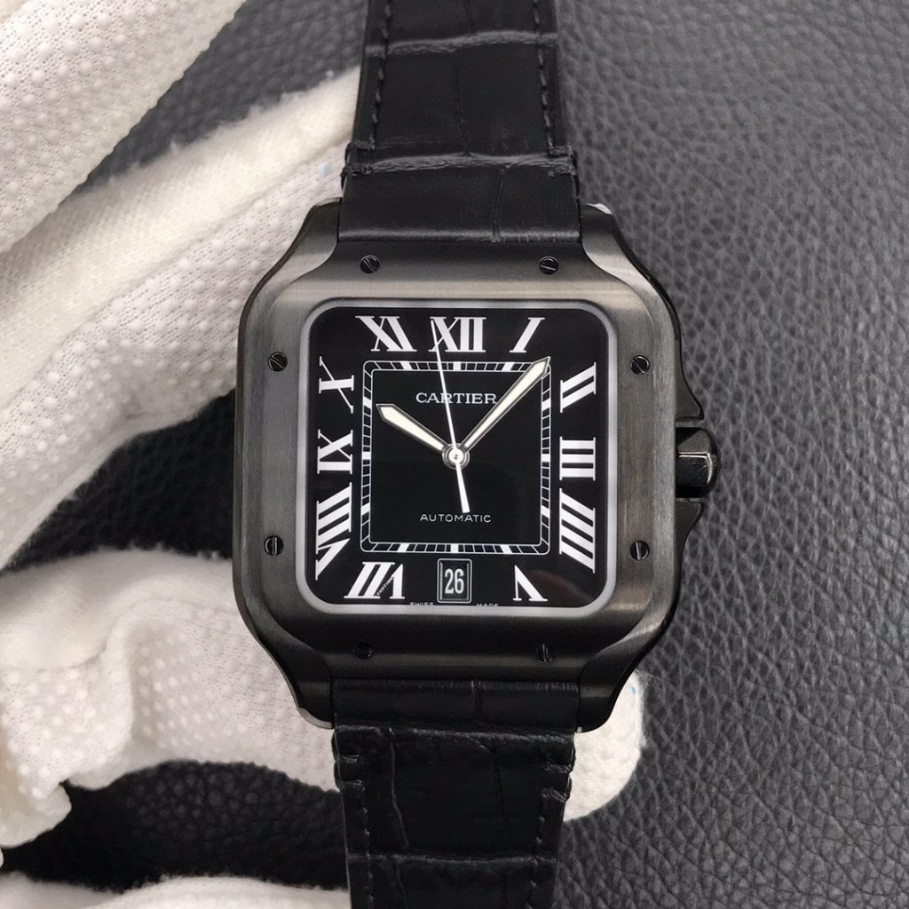 Cartier Santos Black Watch Replica