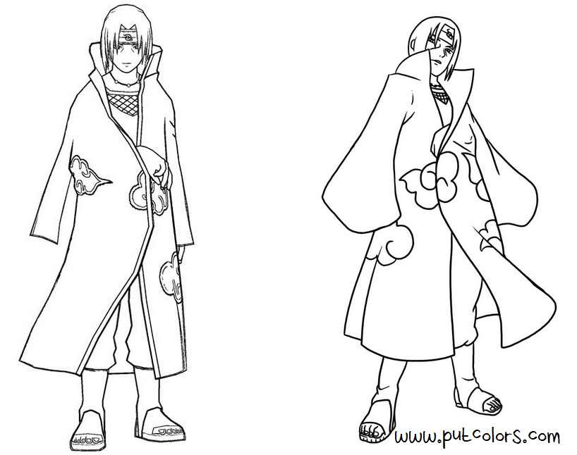 Naruto Coloring Pages Shippuden Coloring Home