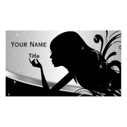 Silhouette Woman Hair Stylist Double-Sided Standard Business Cards (Pack Of 100)