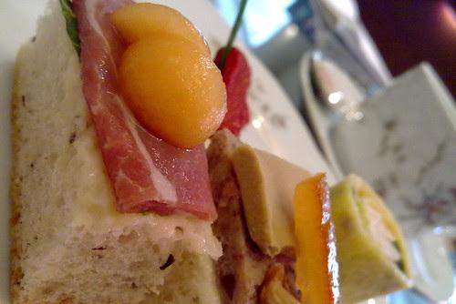 Beef and foie gras sandwiches at Goodwood Park Hotel cafe hi-tea buffet