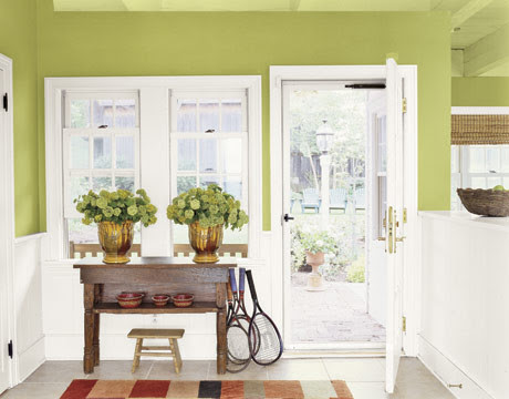 Green Paint traditional entry