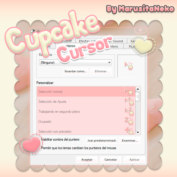 Cupcake Cursor n.n Mi 1er cursor OwO by marusitaneko