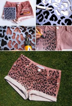 DIY Fashion | Leopard print shorts |  ok this looks cheap and trashy but I feel like it could be a good idea