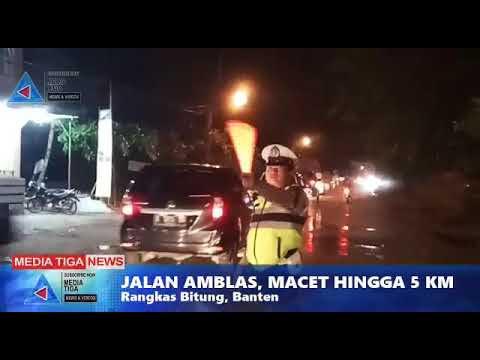 VIDEO : Jalan Rangkasbitung - Cikande Amblas, kemacetan mencapai 5 Km