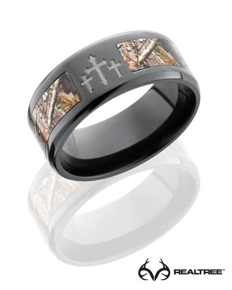 #NEW Realtree Xtra Camo Crosses Black Zirconium Ring #