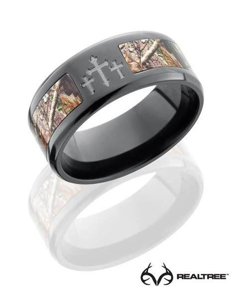 #NEW Realtree Xtra Camo Crosses Black Zirconium Ring #