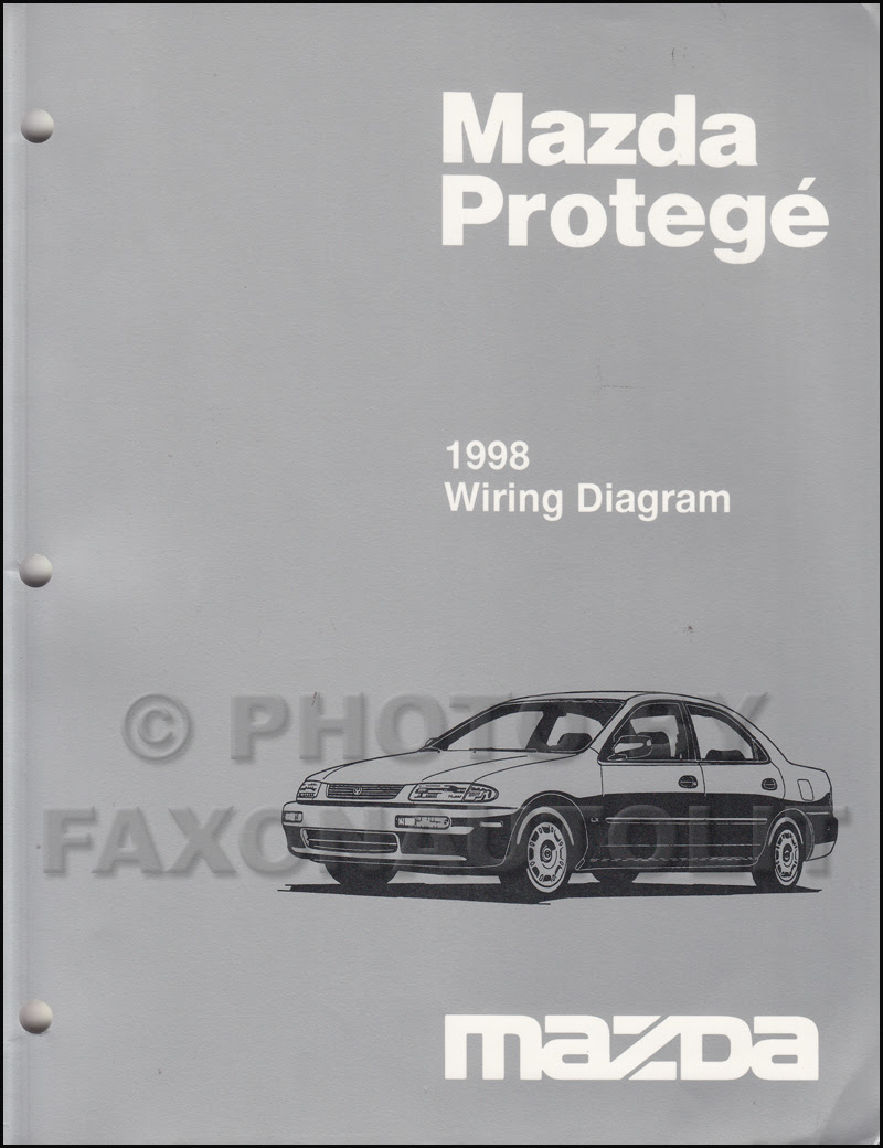 1998 Mazda Protege Wiring Diagram Manual Original