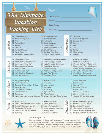 Declaration Of Trust Business Trip Packing List Pdf