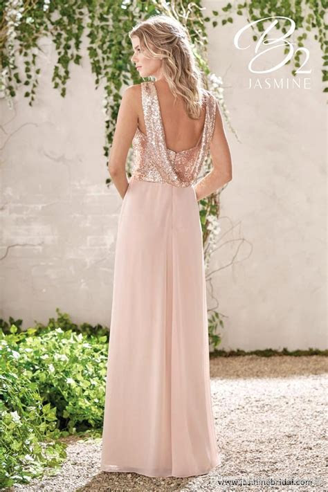 Sparkly Rose Gold Sequined Bridesmaid Dresses 2019 Long