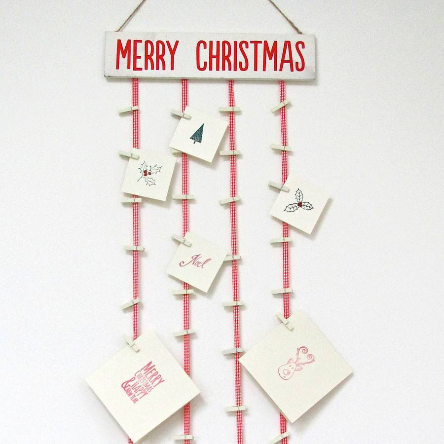 merry christmas card holder by chapel cards - Photo Holder Christmas Cards