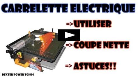 couper du carrelage avec une carrelette electrique