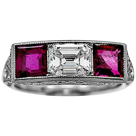 Bailey Banks and Biddle Antique Ruby Diamond Ring at 1stdibs