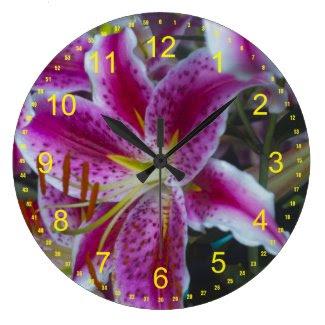 Stargazer Lilies Clock