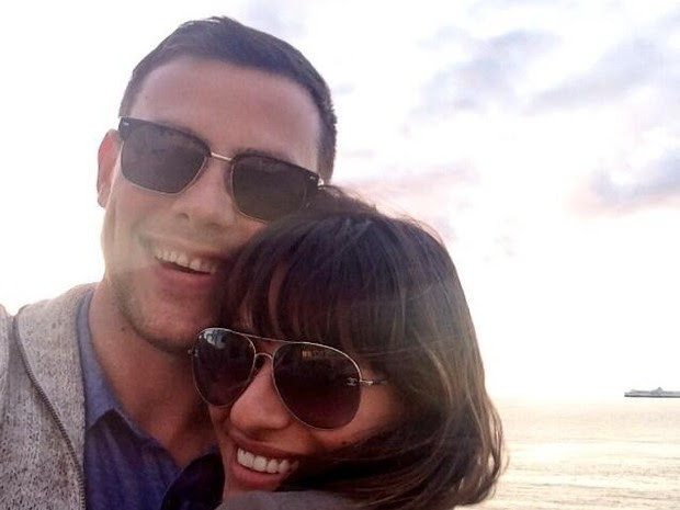 Cory Monteith e Lea Michele (Foto: Reprodução/Twitter)