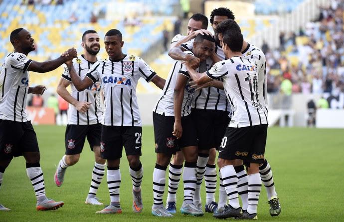 Gol Elias, Flamengo x Corinthians (Foto: André Durão)