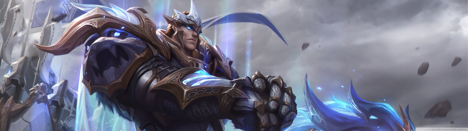 God King Garen Lol Splash Art League Of Legends Ultra Hd Desktop