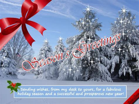 Holiday Wishes. Free Business Greetings eCards, Greeting