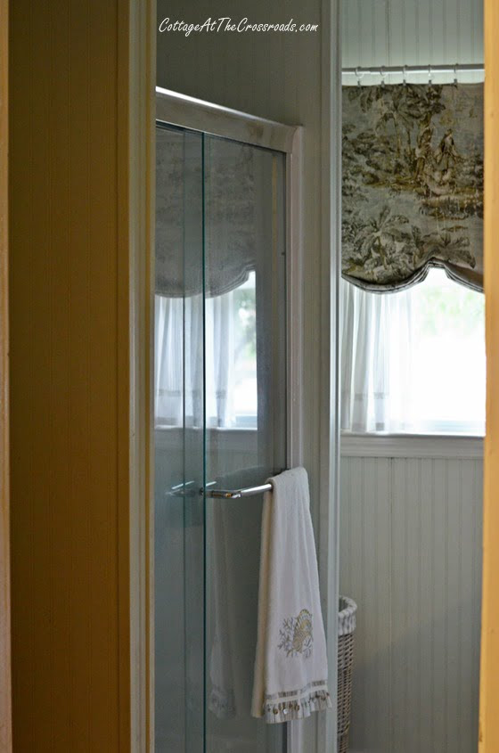 From My Front Porch To Yours-How I Found My Style Sundays-beadboard in bathroom | Cottage at the Crossroads