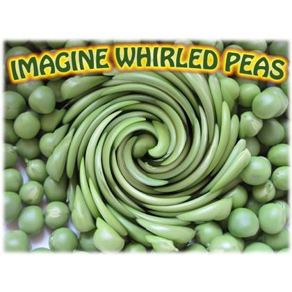 Imagine whirled peas | Tacky Harper's Cryptic Clues