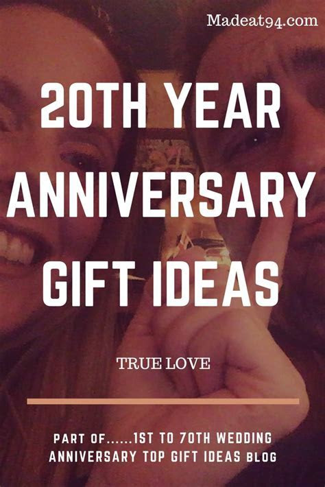 Best 25  20th wedding anniversary gifts ideas on Pinterest