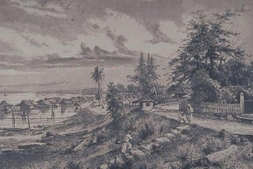 Ilustrasi Kerajaan Samudera Pasai.