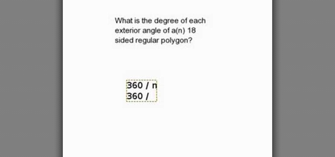 find measure exterior angle regular polygon