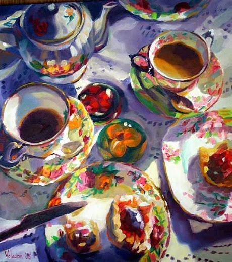 stilllifequickheart:  Rosemary Valadon Tea for Two III 2006