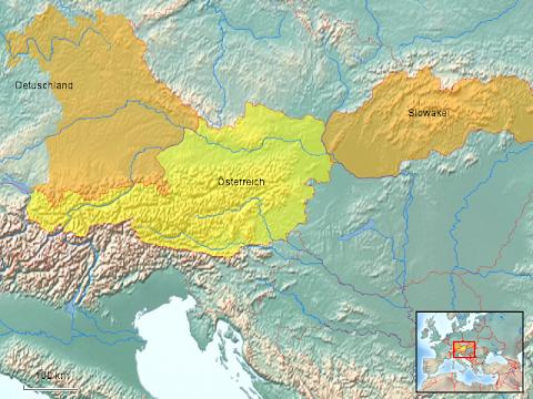 Österreich Slowakei / Kennzeichenhalter Österreich/Slowakei/Ungarn, 520 x 120 mm, Kunststoff, Chrom umrandet   carclix - Slowakei, österreich, iron curtain trail, radfernwanderweg vom nordmeer bis zum schwarzen meer.