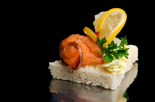 smoked fish canape