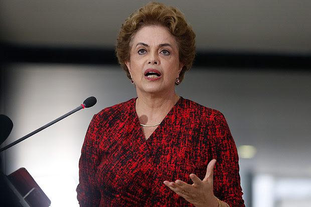 Presidente Dilma em entrevista coletiva no Palácio do Planalto