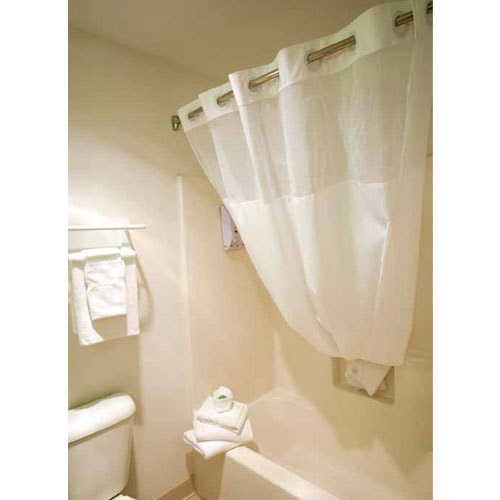 Ganesh No Hook Fabric Shower Curtain W 12 Sheer Voile Window