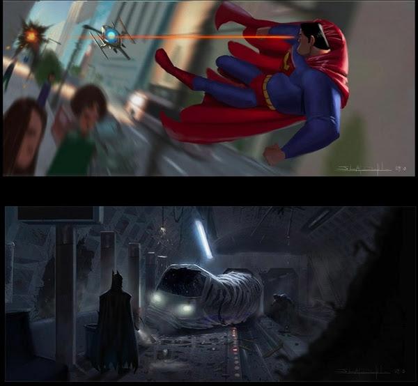 Batman Superman Pixar