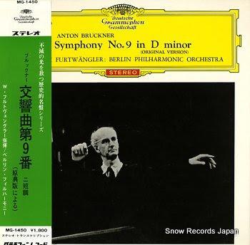 FURTWANGLER, WILHELM bruckner; symphony no.9 in d minor