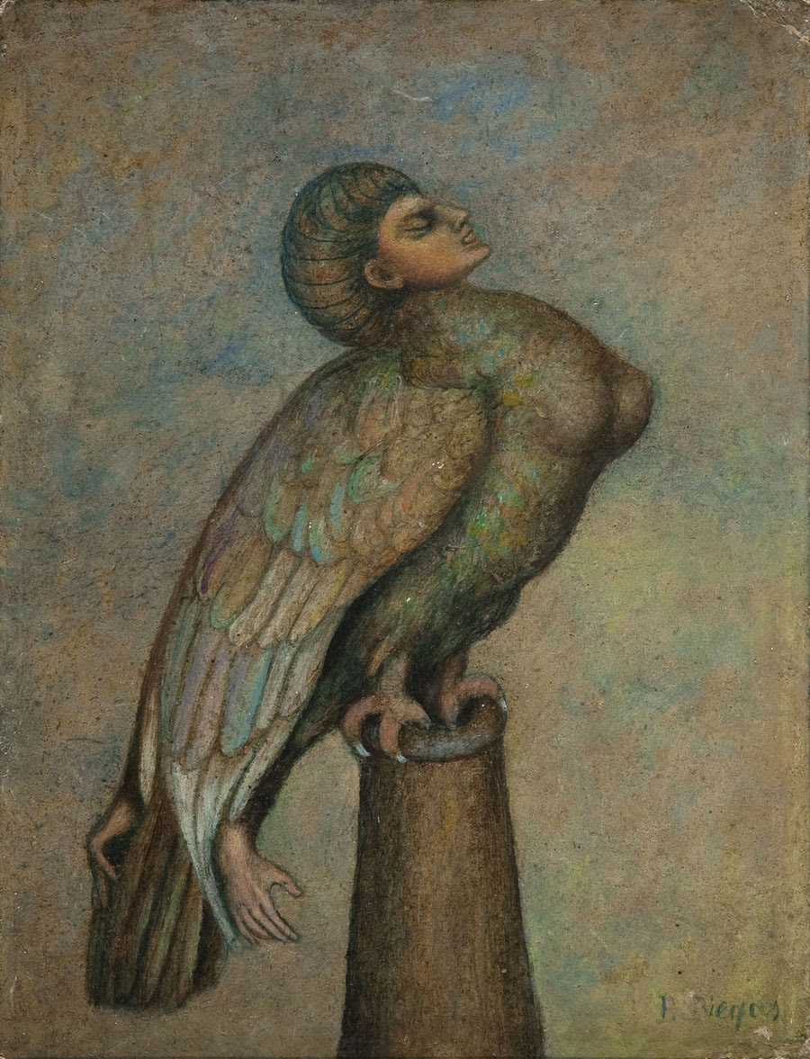 Boleslaw Biegas - Vampire Resting On The Cannon Barrel, 1916