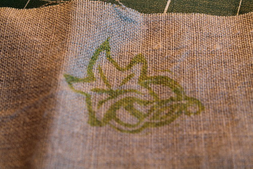 Art Nouveau ivy stamp