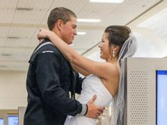 PHOTO: Dylan Ruffer and Madison Meinhardt were married at Reno-Tahoe International Airport.